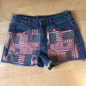 Pants - American High Waisted Denim Shorts